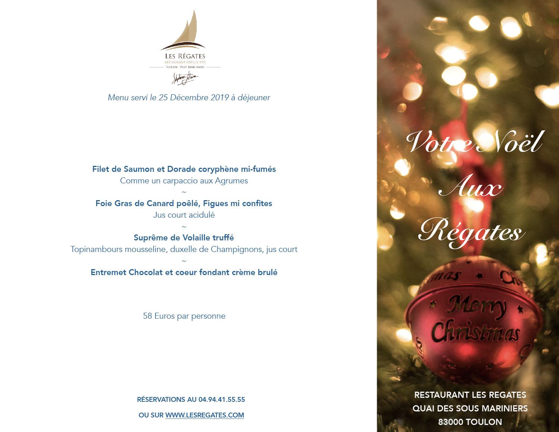 Decoration De Menu De Noel.Brasserie Gastronomique Port De Toulon